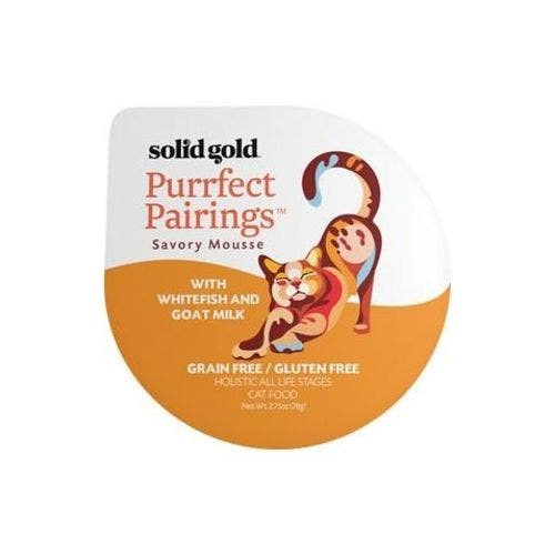 Solid Gold purrfect pairing 2.75oz whitefish goat milk cat food