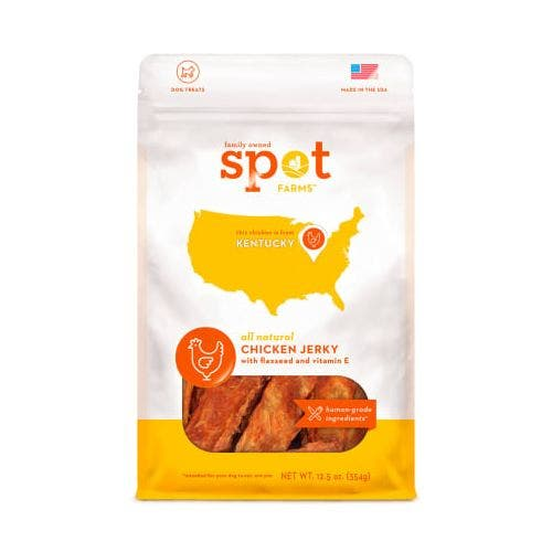 Spot Farms spot chicken jerky 12.5oz with flaxseed dog treats