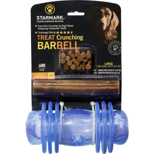 Starmark treat crunching barbell large dog