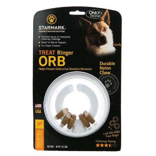 Starmark treat ringer orb dog