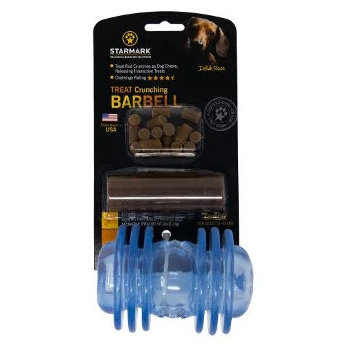 Starmark treat crunching barbell medium dog