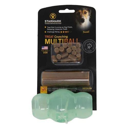 Starmark treat crunching multiball dog