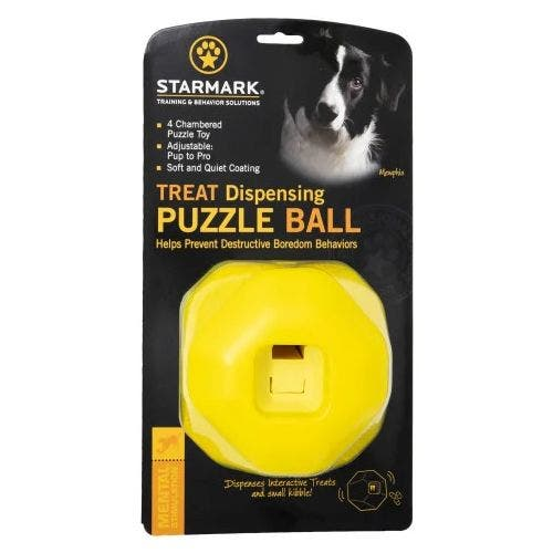 Starmark treat dispensing puzzle ball dog