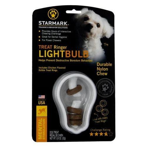 Starmark treat ringer lightbulb dog