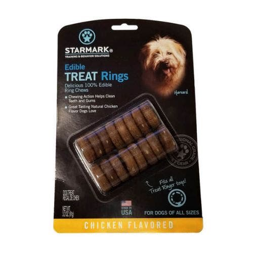 Starmark edible treat rings usa dog
