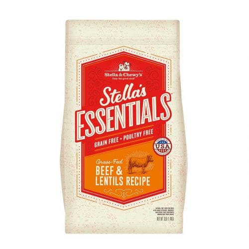 Stella and Chewy's 25lb essentials grain free beef lentils dog food