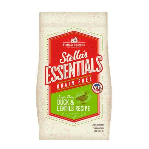 Stella and Chewy's 25lb essentials grain free duck lentils dog food