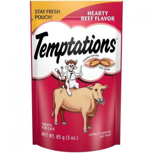 Temptations 3oz hearty beef cat treat
