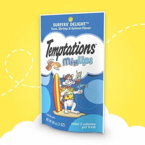 Temptations 6.35oz surfers delight  mixups cat treat