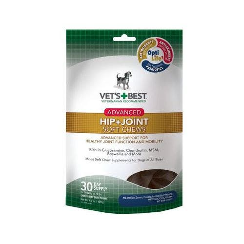 Vets Best 4.2oz advanced hip joint chews dog grooming
