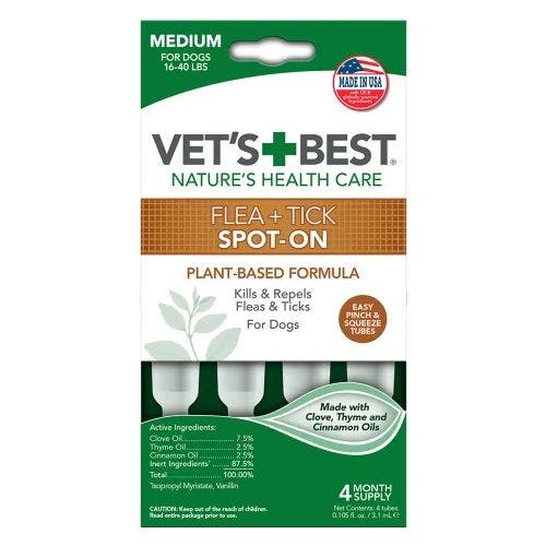 Vets Best flea tick drops medium 4 pack dog grooming