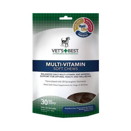 Vets Best 4.2oz multi vitamin chews dog grooming