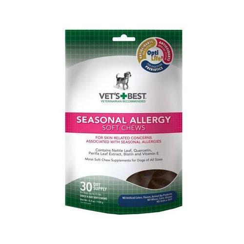 Vets Best 4.2oz seasonal allergy chews dog grooming