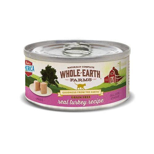 Whole earth cat 12.7oz grain free turkey pate