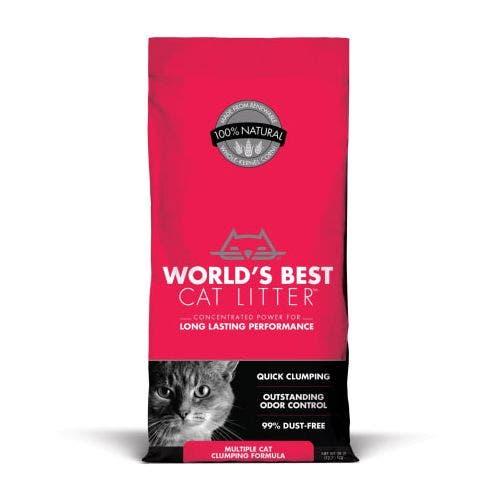 World's Best 28lb red clumping cat litter