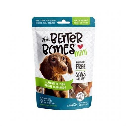 Zeus Better Bones 12 pack almond chicken wrap dog treats