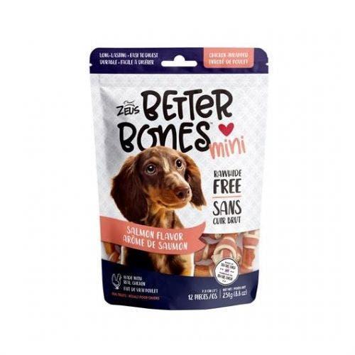Zeus Better Bones 12 pack salmon chicken wrap dog treats