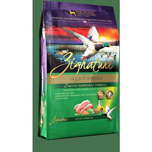 Zignature 4lb duck dog food