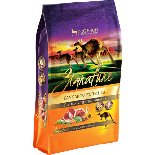 Zignature 27lb kangaroo dog food