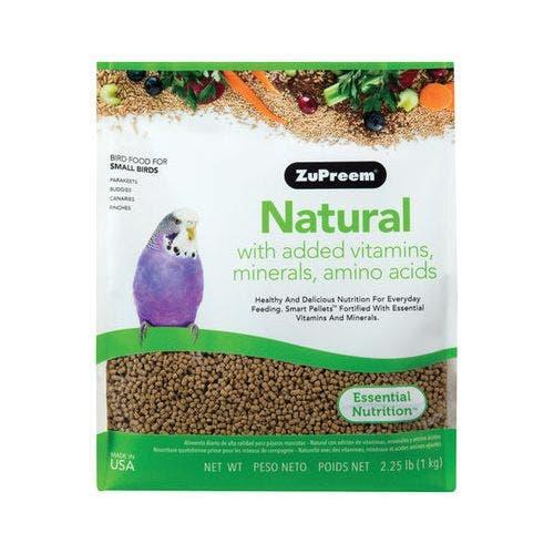 Zupreem cockatiel natural diet 20lb bird food