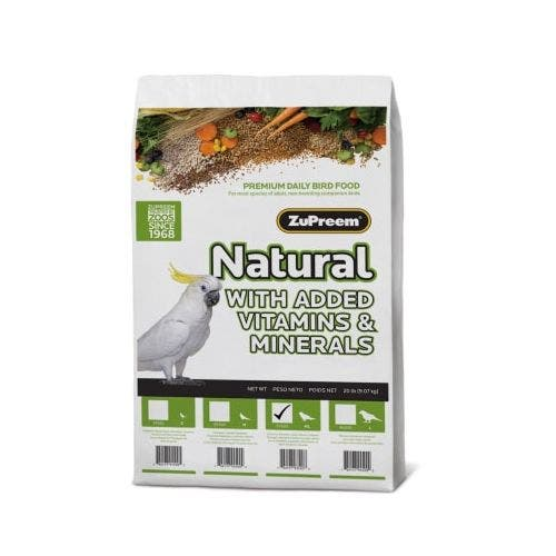 Zupreem natural parrot conure 20lb bird food