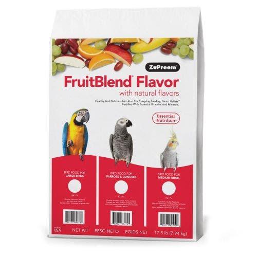 Zupreem fruit blend cockatiel 17.5lb conure bird food