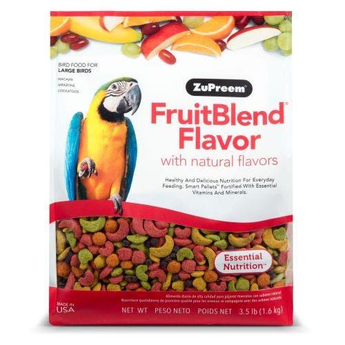 Zupreem fruit blend cockatiel 17.5lb large parrot bird food