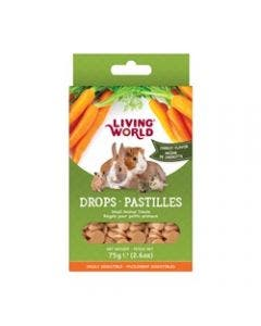 Living World small animal carrot drops 2.6oz